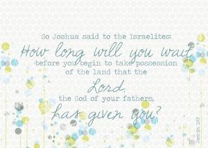 Joshua 18-3